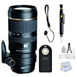 Tamron SP 70-200MM F/2.8 DI VC USD Telephoto Zoom Lens - International Version (No Warranty) for Nikon D3000, DSLR Cameras Includes: Cap Keeper + Remote + Lens Cleaning Pen + Starter + Cleaning Cloth