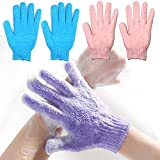 Best Exfoliating Gloves - 2 Pair Exfoliating Body Gloves Bath Loofah Skin Review