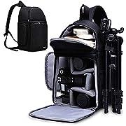 CADeN Camera Bag Backpack- 1 Camera 3 Lens Quick Access Waterproof Modular with Tripod Accessories, DSLR Mirrorless…