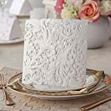 100sets Wishmade Invitation Card White Embossing and Laser Wedding Invitation Cards (Free Customized Printing Service) PK839