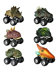 dmazing Pull Back Dinosaur Cars - Best Gifts for Kids
