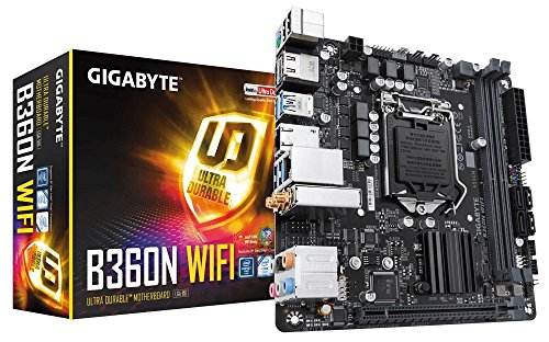GIGABYTE B360N WiFi (LGA1151/Intel/B360/CNVi 802.11ac Wave2 2T2R Wi-Fi/Mini ITX/DDR4 Motherboard) (Best Router For Nas 2019)