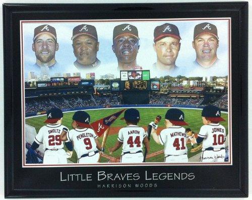 Framed Chipper - Atlanta Braves Little Legends: Aaron, Mathews, Jones, Pendleton & Smoltz Framed Lithograph F6662A