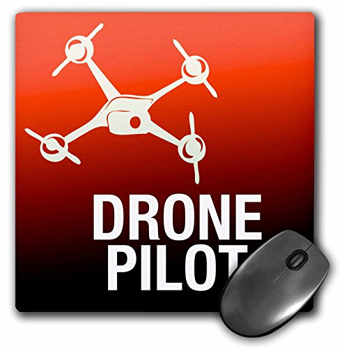 3dRose LLC 8 X 8 X 0.25 Inches Mouse Pad Red Drone with UAV Pilot (Mp_179913_1)
