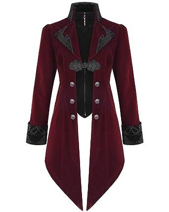 Punk Rave Gehrock UNISEX Samt Mantel Victorian Coat Gothic Steampunk Y401