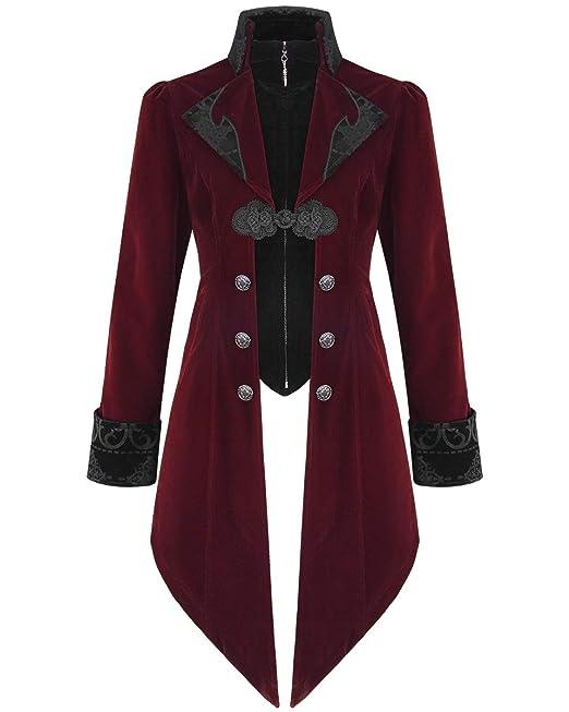 Chaqueta para hombre de la marca Devil Fashion, de terciopelo, gótica, steampunk, aristócrata: Amazon.es: Ropa y accesorios