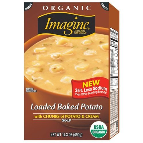 Imagine Organic Soup, Loaded Baked Potato, 17.3 Ounce (Pack of 12)