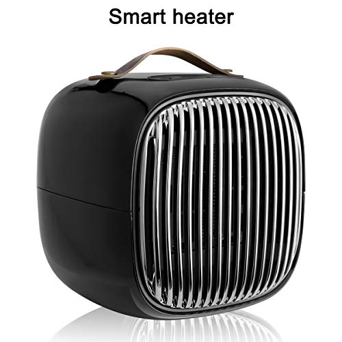 ESHOWEE 800 Watt Electric Ceramic Space Heater with 3 Modes Adjustable Thermostat Tip-Over/Over-Heating Protection, Mini Portable Space Heater Fan for Bedroom Personal Baby Kids Small Room Office Desk