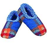 Snoozies Mens Fleece Lined Non-Skid Slipper Socks