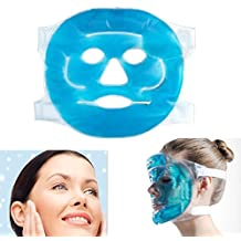 Scenstar Hot Cold Facial Ice Mask Face Gel Pad Freezable, Reusable- for Swollen Face, Puffy Eyes, Dark Circles, Headache, Migraine, Sinus Relief