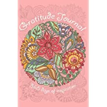 Gratitude Journal: 365 days of inspiration (coloring pages)