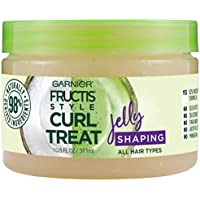 Garnier Fructis Style Curl Treat Shaping Jelly with Coconut Oil for Curly Hair 10.5 Ounce Jar