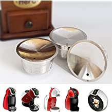 Reusable dolce gusto Coffee Capsule Stainless Steel Refillable dolce gusto Coffee Capsule Metal Refillable dolce gusto Capsules Reusable Capsule Using for 10 Years