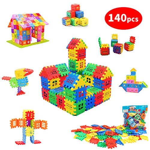 - Michley Builder Sets for Kids 140 Piece Interlocking Builders Blocks, Classic