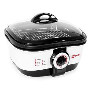 myDOMO MF-01 Cooking Master 8 en 1 Olla multifunción (5L, 1500W, 8 programas, recipiente de aluminio desmontable, función mantenimiento calor)