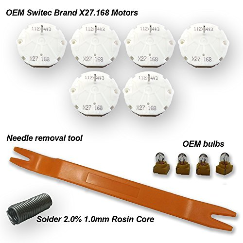 Oem Dash Kits (GM Chevrolet Silverado Stepper Motor Repair Kit By Dr.speedometer (6 motor kit) - X27 168 - Fits All 03, 04, 05, 06 Chevy Silverados, Tahoes, Yukons, Suburbans +)