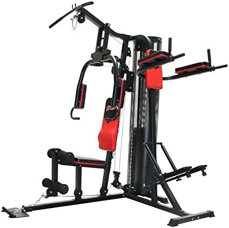 Schmidt Sportsworld MULTIGYM CHROM 950013N estructura de tubos de acero, m/ás de 45 posibilidades de ejercicios, respaldo acolchado Estaci/ón de entrenamiento