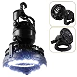 DYHQQ Portable LED Camping Lantern with Ceiling Fan 18 LED Flashlight Ceiling Fan for Outdoor Hiking Fishing Outages and Emergencies Tent