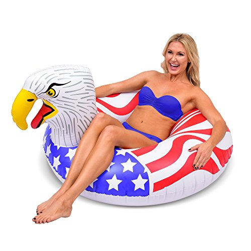 GoFloats American Screaming Eagle Pool Float Party Tube | The Most Patriotic Float Ever (for Adults and -