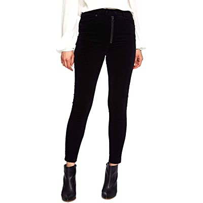 1.STATE Pinwale-Corduroy Skinny Pants Black 10 at Women's Clothing store