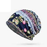 #6: Highpot Womens Floral Beanie Hat Chemo Cap Stretch Slouchy Turban Scarf Headwear