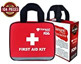 First Aid Kit For Emergency & Survival Situations, 104 Pieces, FDA Approved, For Car, Camping, Travel, Hiking, Office, Sports, Pets, Hunting, Home By Diamond Driven