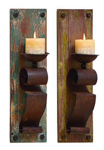 Benzara Candle Sconce Assorted Elegant and Sophisticated, Se