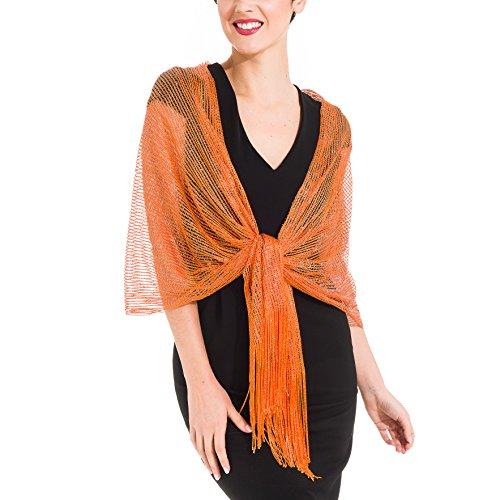 - Shawl Wrap Fashion Scarf for Women Spring Winter: Evening Dresses, Wedding, Party, Bridal (Orange)