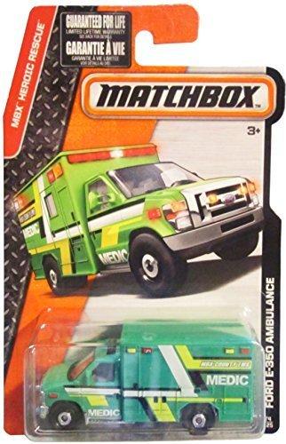 Matchbox Ford E-350 Ambulance EMS Medic #74 2016 Series 1:64 Diecast Scale
