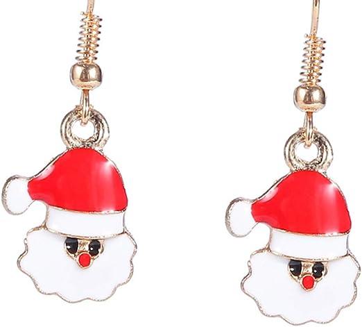 Hemore Moda Dibujos Animados Pendientes Navidad aretes Santa Claus ...
