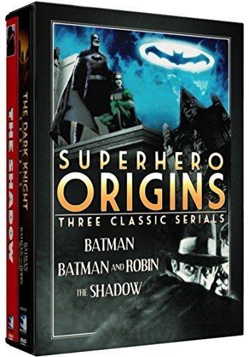 DVD : Superhero Origins: 3 Complete Serials Batman / Batman & Robin / Shadow (3PC)