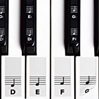 Piano Stickers for White & Black Keys w/ Complete Notes...