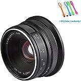 7artisans 25mm F1.8 Large Aperture Manual Focus Prime Fixed Lens For Olympus and Panasonic MicroM4/3 Cameras,Black