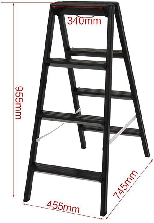 Escaleras plegables peldaños, 4-Paso Escalera de Aluminio, doble ...
