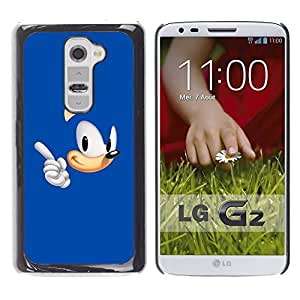 Paccase / SLIM PC / Aliminium Casa Carcasa Funda Case Cover para - Blue Hedgehog - LG G2 D800 D802 D802TA D803 VS980 LS980