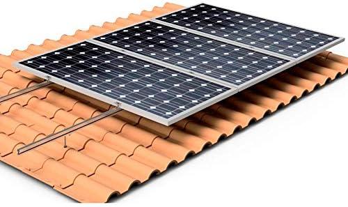 Solarbetriebenes Dach für 1 Solarpanel.
