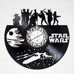 Star Wars Movie Handmade Vinyl Record Wall Clock - Get unique living room or nursery wall decor - Gift ideas for friends, teens, boys – Cool Unique Modern Art Design