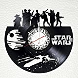 Star Wars Movie Handmade Vinyl Record Wall Clock - Get unique living room or nursery wall decor - Gift ideas for friends, teens, boys – Cool Unique Modern Art Design