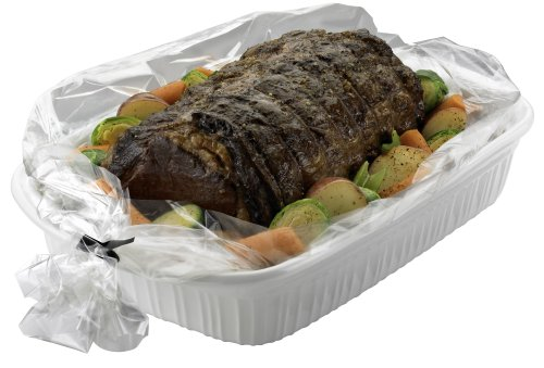 PanSaver Ovenable Pan Liners Oven Roasting Bag With Ties, 18-by-24-Inch