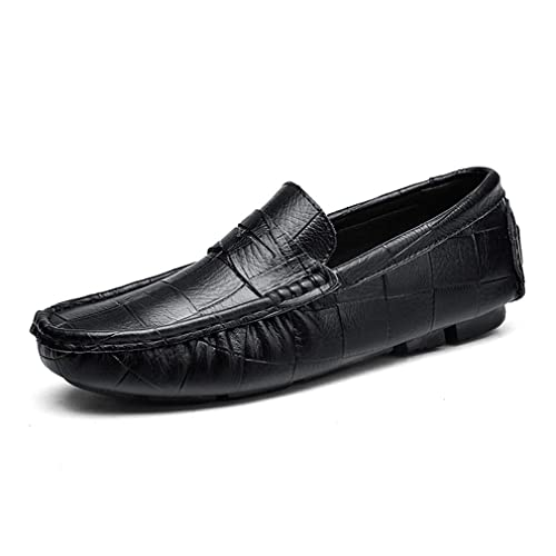 Zapatos de Hombre Mocasines de Cuero Mocasines de Primavera y otoño Zapatos de Barco y conducción