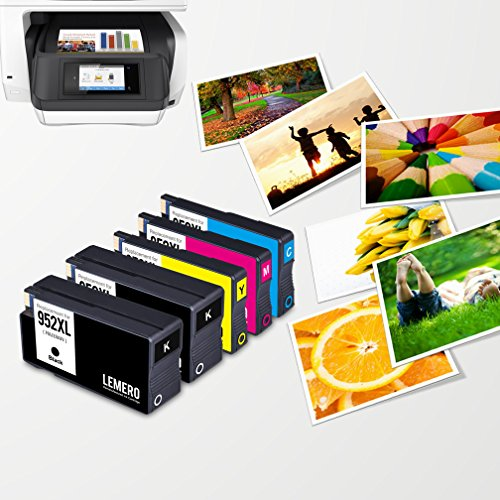 Lemero Replacement for 952XL Remanufactured Ink Cartridge ( 1 Set + 1 Black ) Compatible with Officejet pro 8210 8710 8715 8720 8725 8730 8740 series printer Photo #6