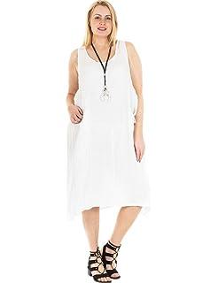 d00b921c67c Love My Fashions New Ladies Womens Italian Lagenlook Quirky One Side Pocket Sleeveless  Linen…