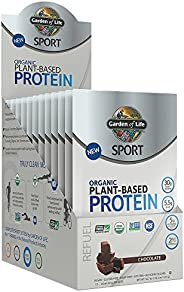 Garden Of Life Sport Organic Plant-Based Protein - BCAA Amino Acid Protein Powder, Chocolate, 1.6 Ounce, Pack