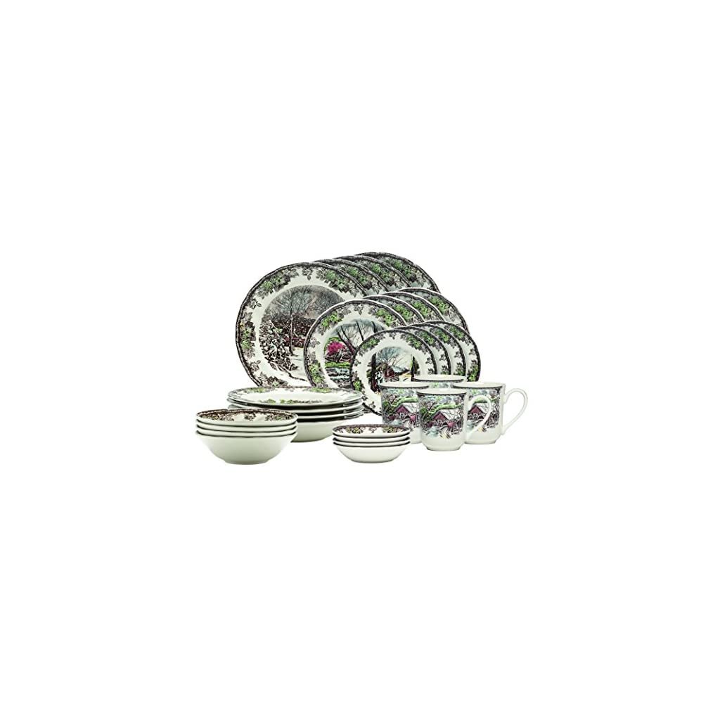 Johnson Brothers 28-piece dinnerware set, multi-color