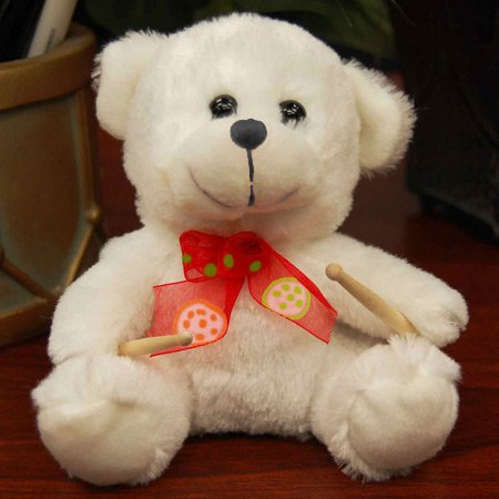 Cute Bear w/ Drumsticks for a Music Gift for Drummer