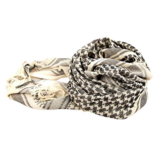 Wingbind 100% Cotton Shemagh Tactical Desert Scarf Wrap, Military Thickened Keffiyeh Arab Tessel Scarf Wrap for Women and Men by Wingbind (Image #5)
