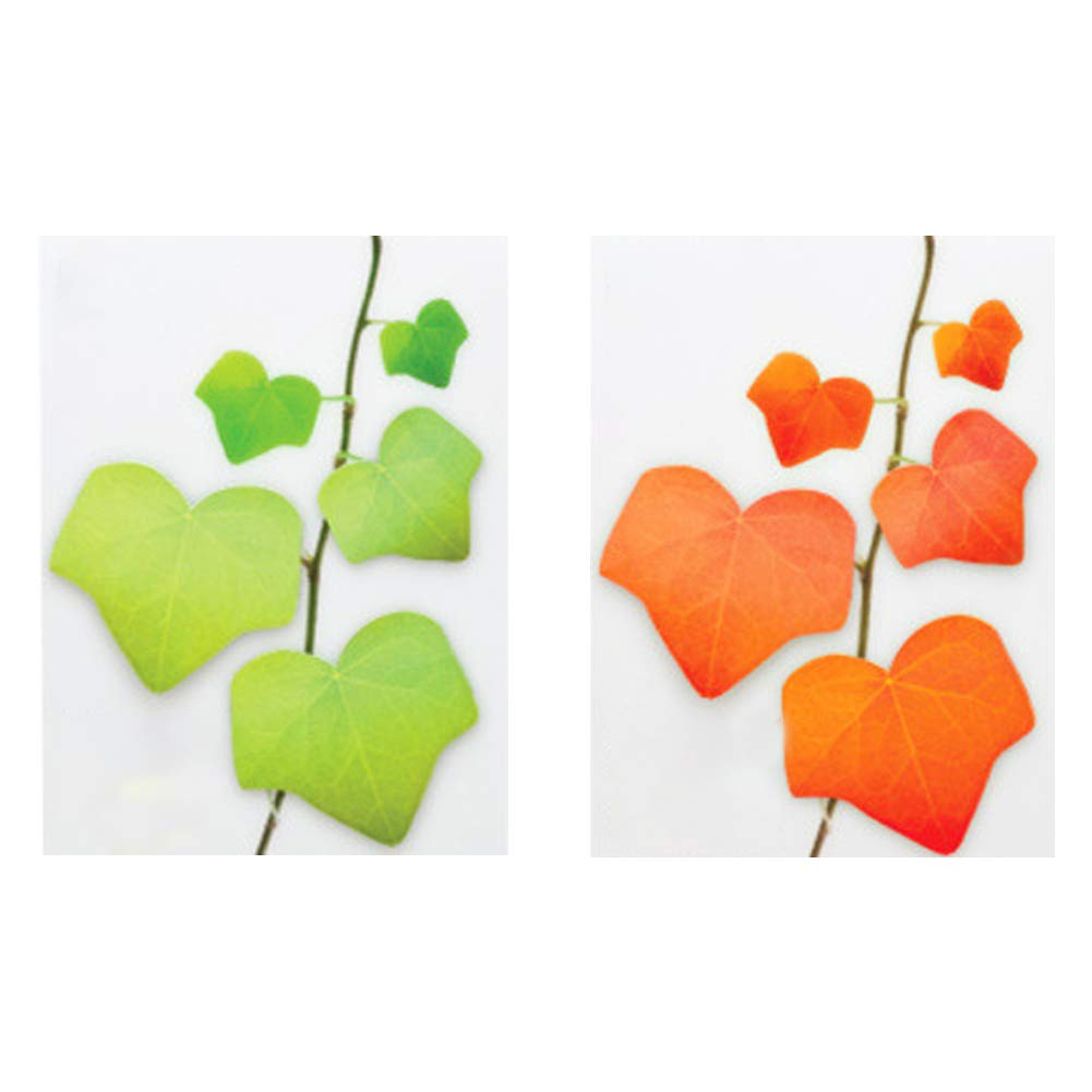Sticky Notes Creative Ivy Tree feuille Pad papier post bloc-notes M/émo papeterie cadeaux Memo Pad 2pcs feuille rouge et feuille verte