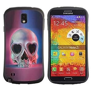 Be-Star Impreso Colorido Diseño Antichoque Caso Del Iface Primera Clase Tpu Carcasa Funda Case Cubierta Par SAMSUNG Galaxy Note 3 III / N9000 / N9005 N9000 N9002 N9005 ( love skull hearts eyes blue pink death )