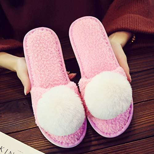 Nette Farbe Paar 41EU Mit Warme Plüsch Hausschuhe Cartoon AMINSHAP Light Dicke Tasche Weibliche Baumwolle 40 Startseite Unterseite größe Modelle Hausschuhe Rutschfeste pink 0aqxwg