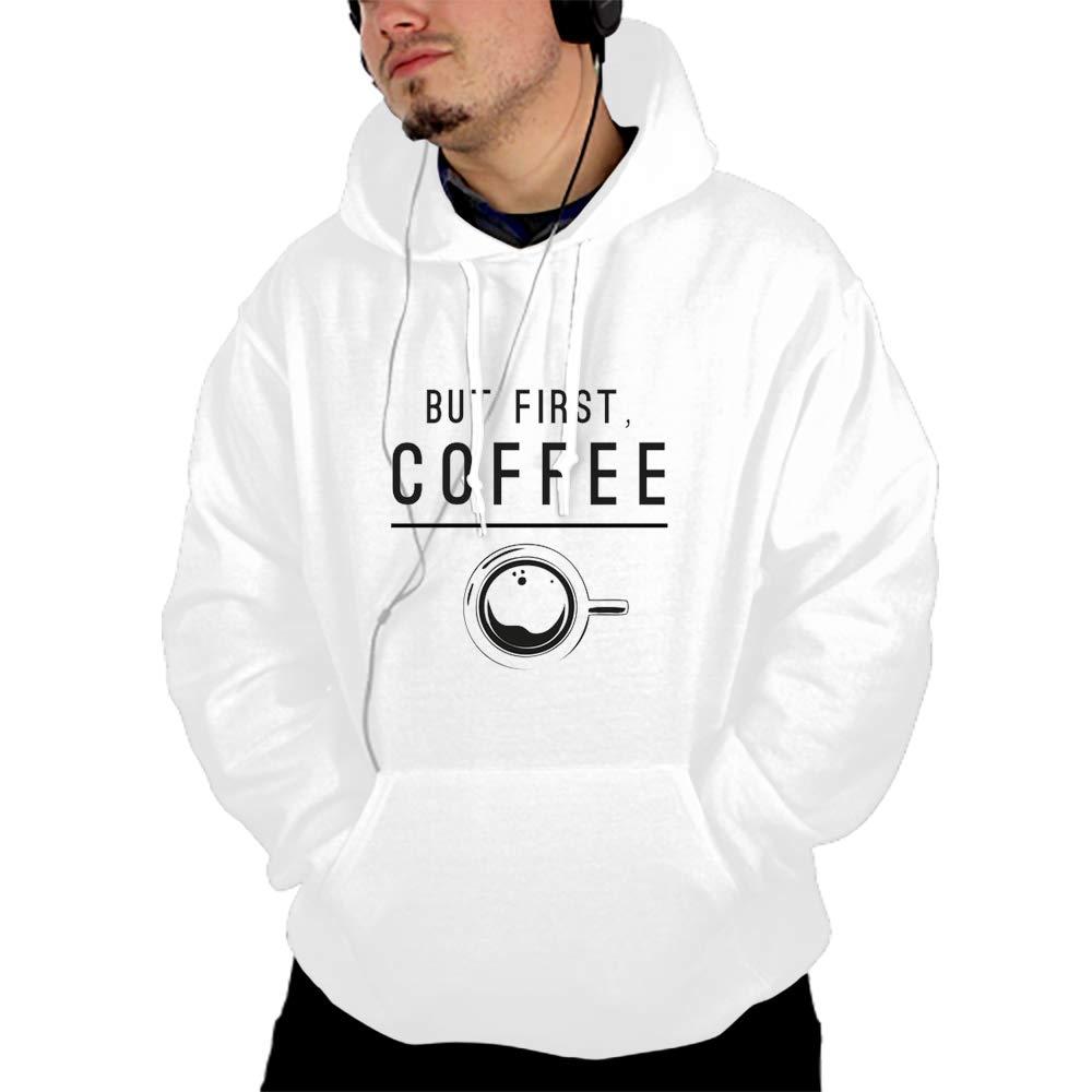 Qeeww But First Coffee Pullover Hooded Sweatshirt Fashion Hoodies Big Pockets